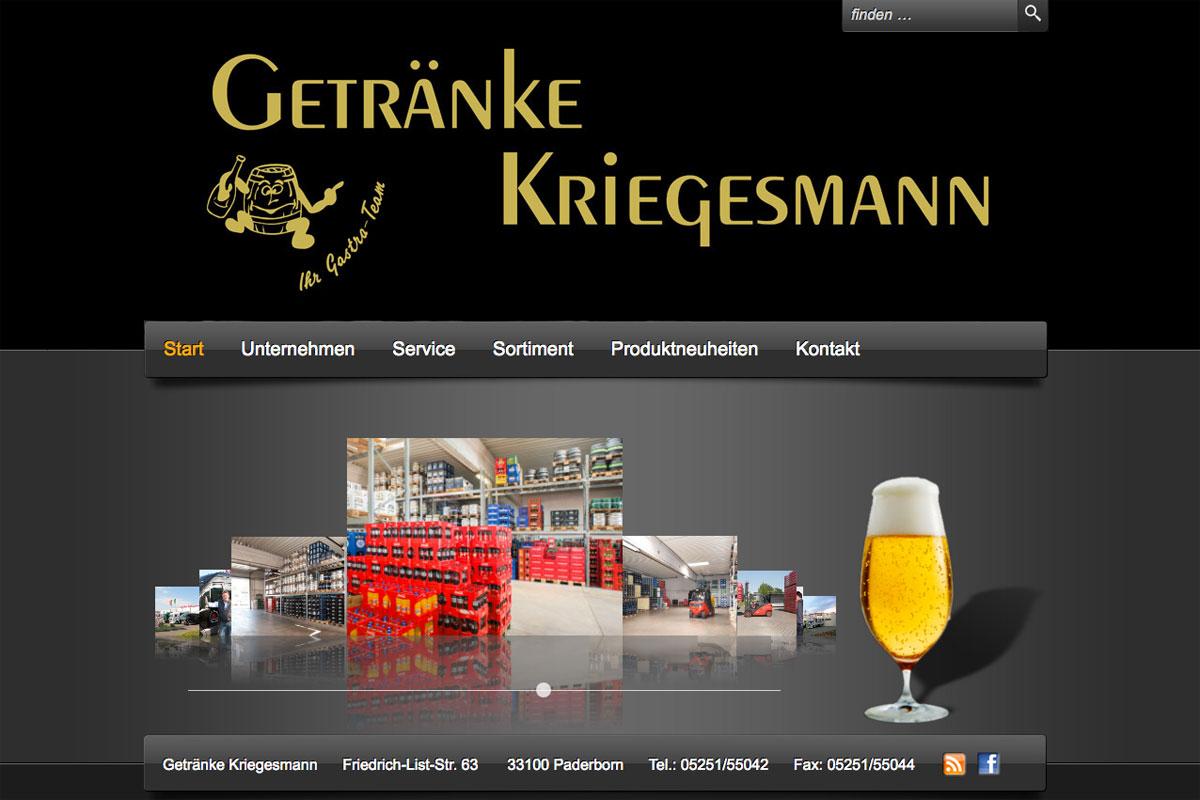 Getränke Kriegesmann: Gut gegen Durst. | Web | Referenz | Impuls ...