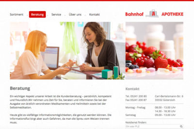 Website Referenz Bahnhof-Apotheke