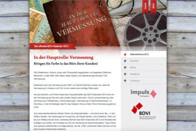 Website Referenz BDVI Kalender 2013