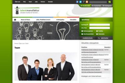 Website Referenz Talentmanufaktur