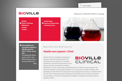 Website Referenz Bioville