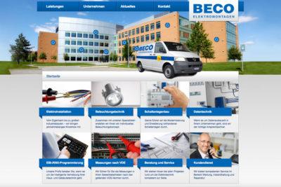 Website Referenz Beco Elektromontagen