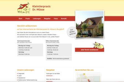 Website Referenz Kleintierpraxis Dr. Müsse