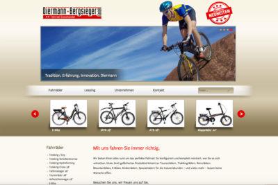 Website Referenz Diermann Bergsieger
