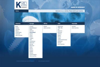 Website Referenz K-implant
