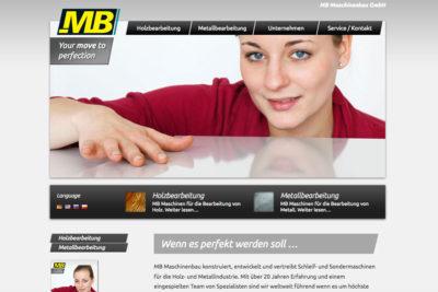Website Referenz MB Maschinenbau