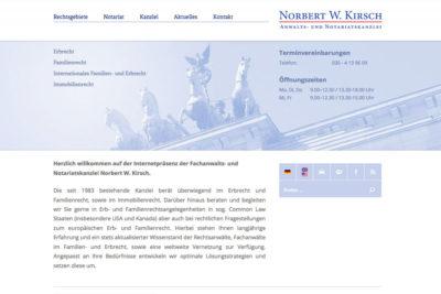 Website Referenz Rechtsanwalt Kirsch