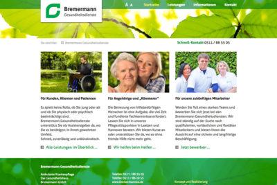 Website Referenz Bremermann Gesundheitsdienste