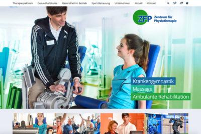 Website Referenz Zentrum für Physiotherapie
