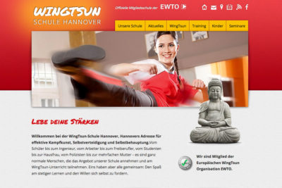 Website Referenz Wingtsun Schule Hannover