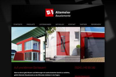 Website Referenz Altemeier Bauelemente
