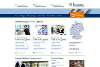 Website Referenz Racoon