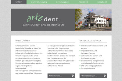 Website Referenz Artedent