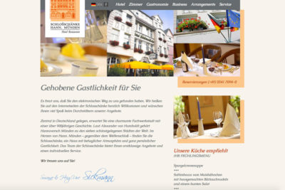 Website Referenz Schlosschänke