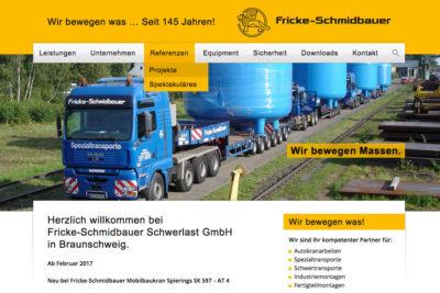 Website Referenz Fricke Schmidbauer