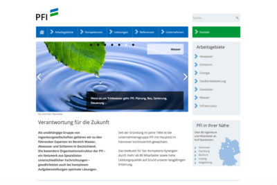 Website Referenz PFI