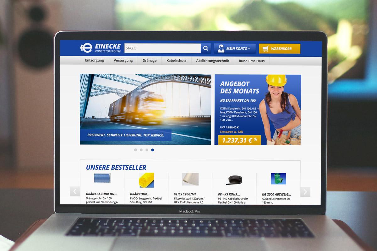 Website-Referenz Einecke Kunststoffrohre