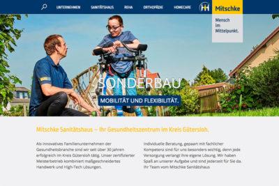 Website Referenz Mitschke Sanitätshaus