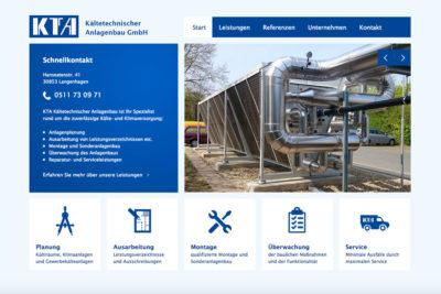 Website Referenz KTA Anlagenbau