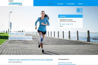 Website Referenz Sanitätshaus Lammers