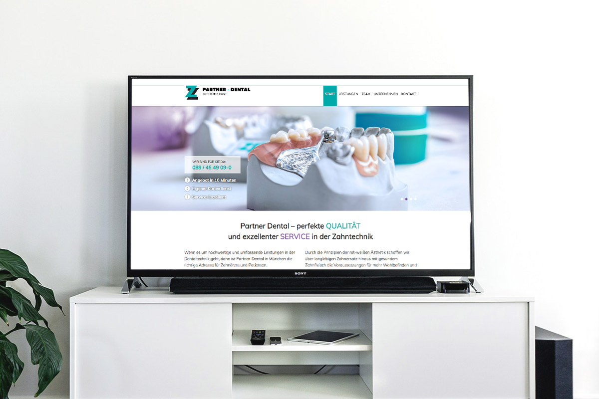 Website-Referenz Partner-Dental