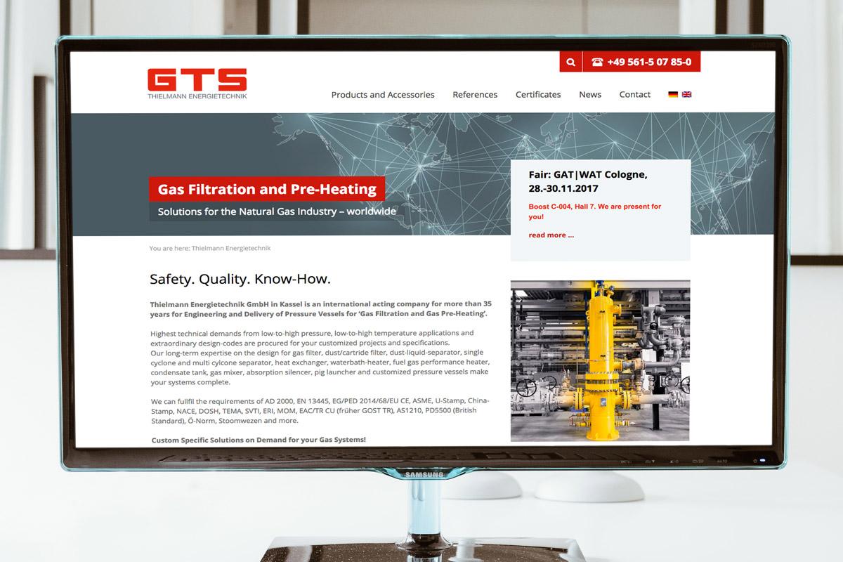 Website-Referenz GTS Thielmann Energietechnik
