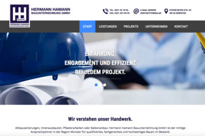 Website Referenz Hermann Hamann Bauunternehmung GmbH