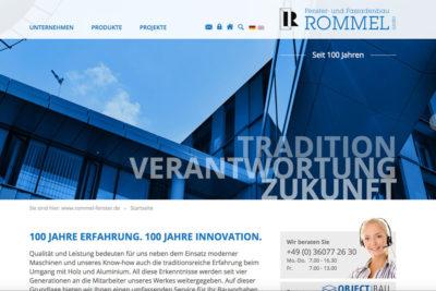 Website Referenz Rommel Fenster- und Fassadenbau