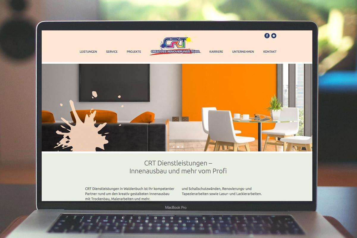 Website-Referenz CRT Dienstleitungen
