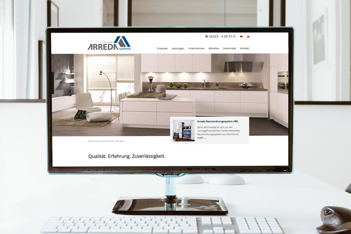 Website-Referenz Arreda Systems
