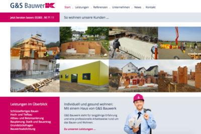 Website Referenz G + S Bauwerk