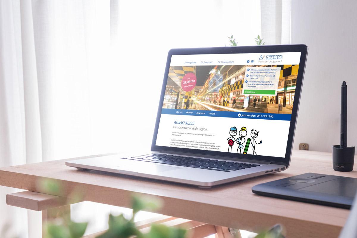 Website-Referenz Kuhn Personalmanagement