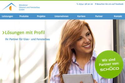 Website Referenz Mündener Glaserei und Fensterbau