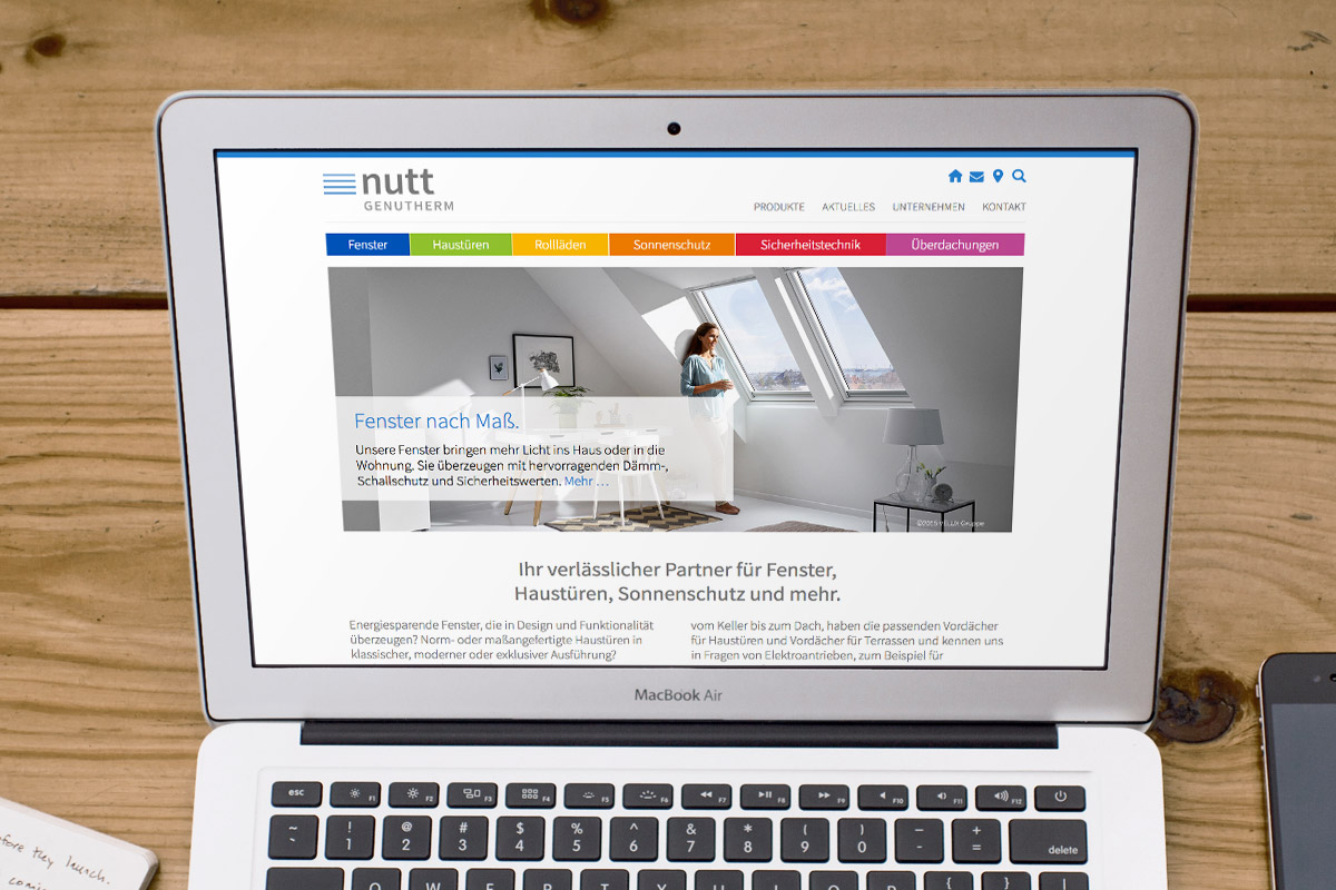 Website-Referenz Nutt Genutherm