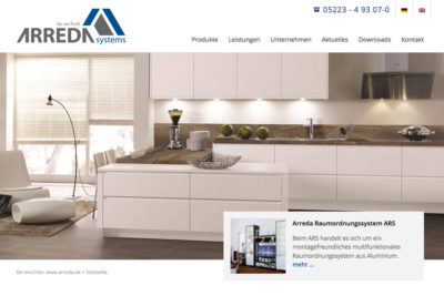 Website Referenz ARREDA Systems