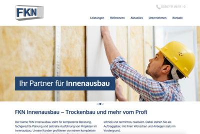 Website Referenz FKN Innenausbau