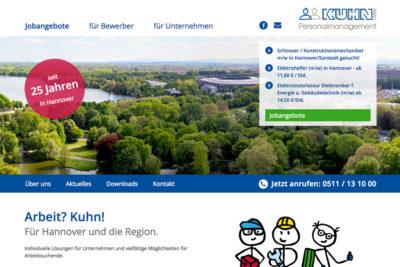 Website Referenz Kuhn Personalmanagement