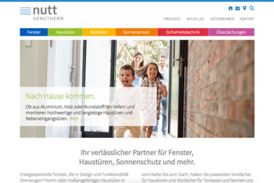 Website Referenz Nutt Genutherm