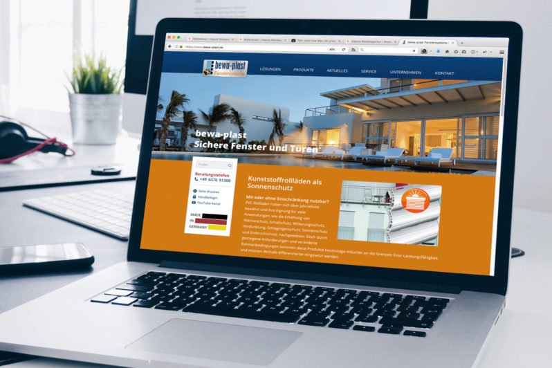 Website Referenz bewa-plast Fenstersysteme