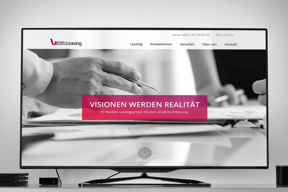 Website-Referenz VET Leasing