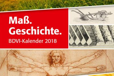 """BDVI-Kalender 2018: """"Maß.Geschichte."""" Abbildung"""