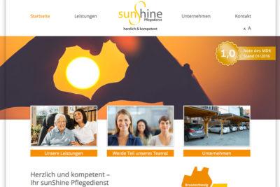 sunshine-pflegedienst-website