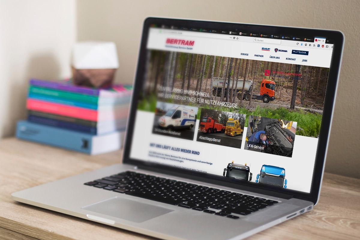 Website-Referenz Bertram Nutzfahrzeuge