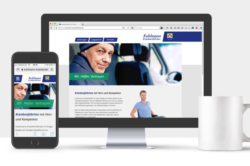 Website-Referenz Kuhlmann Krankenfahrten