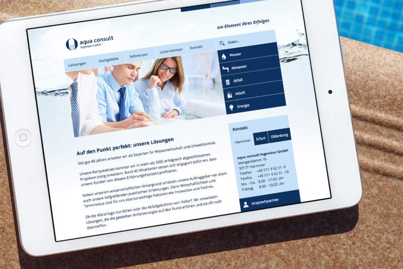 Website-Referenz Aqua Consult