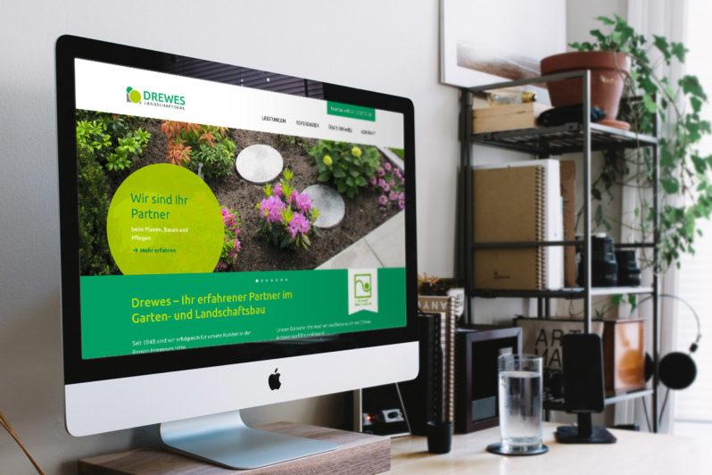 Website-Referenz Drewes Landschaftsbau