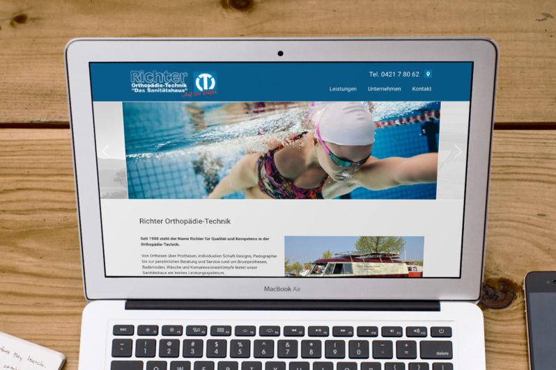 Website-Referenz Richter Orthopädie-Technik