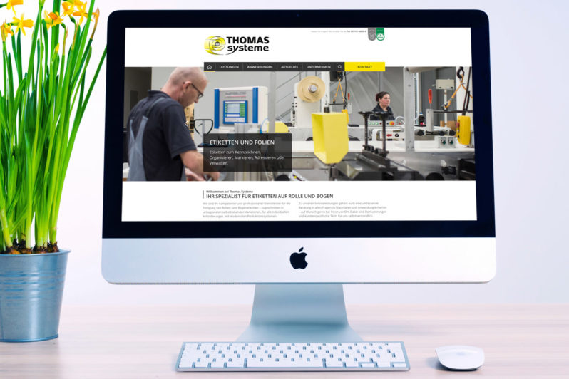 Website-Referenz Thomas Systeme
