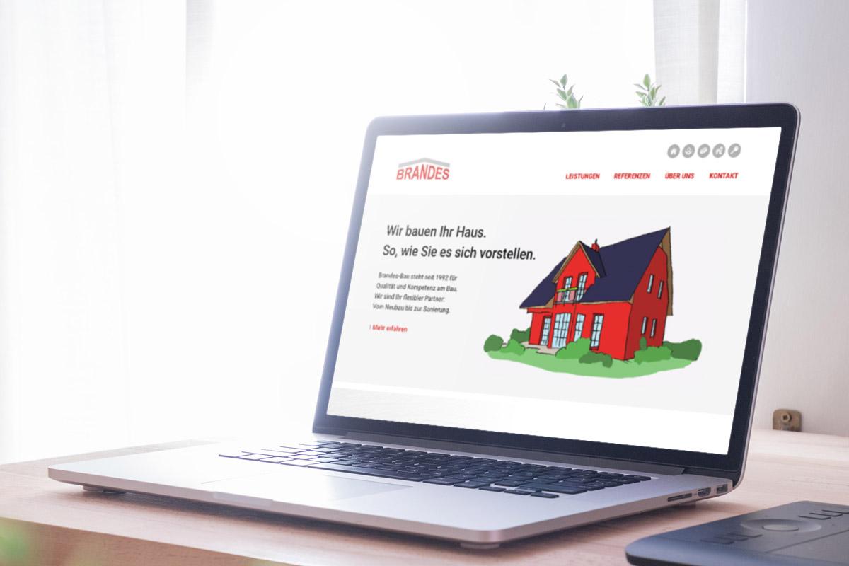 Website-Referenz Brandes-Bau