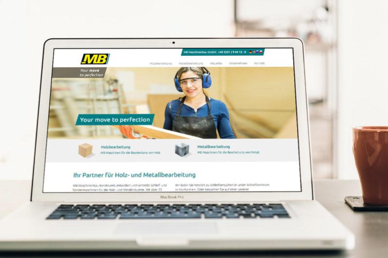 Website-Referenz MB Maschinenbau